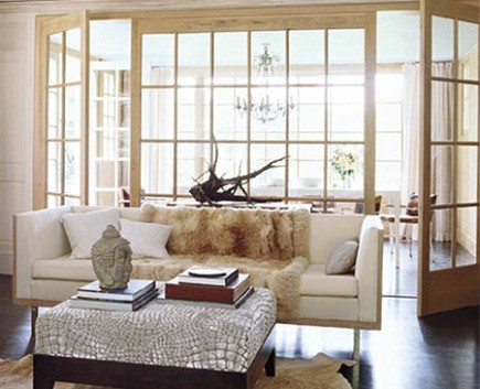 Exceptional Interior Window Walls   With French Doors Madeline Stuart Via Atticmag