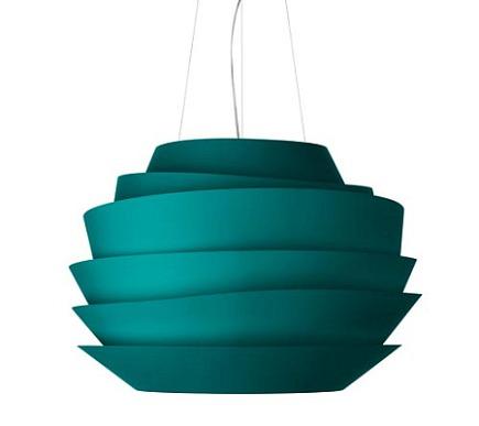 turquoise chandeliers - Le Soleil modern turquoise sphere pendant - Y Lighting via Atticmag