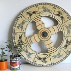 antique handmade wood and metal horse race spinning wheel from carnival game - 3potato4 via Atticmag