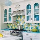 Turquoise Harlequin Kitchen