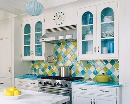 turquoise kitchen by Diamond Baratta via Atticmag
