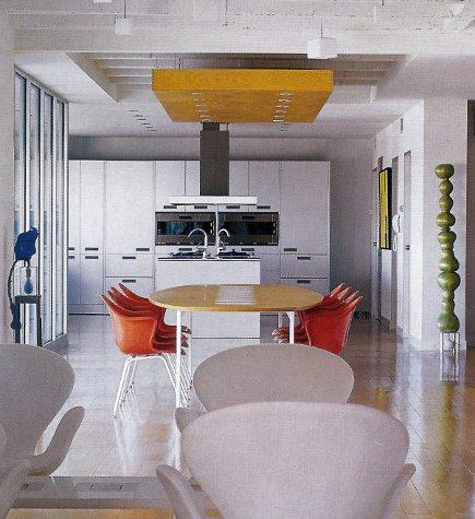 minimalist Bultaup b3 kitchen seen from the open loft area - Met Home via Atticmag