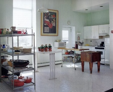firehouse kitchen - white budget kitchen in a former firehouse - New York Spaces via Atticmag