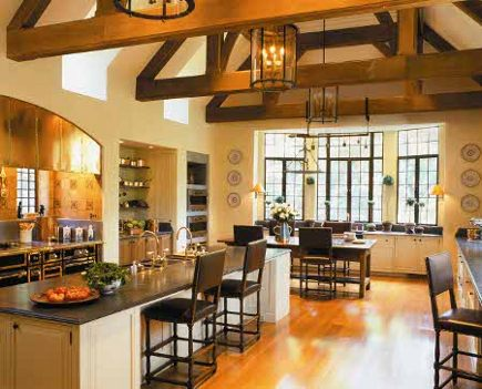 Town & Country kitchens - renovated Connecticut kitchen with Bonnet stove from Town & Country via Atticmag