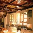 Elaborate Tiled Kitchen Ceiling