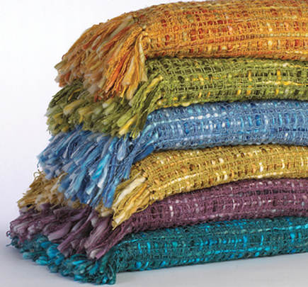 Patterned Jewel Tone Throws By Company C Via Atticmag
