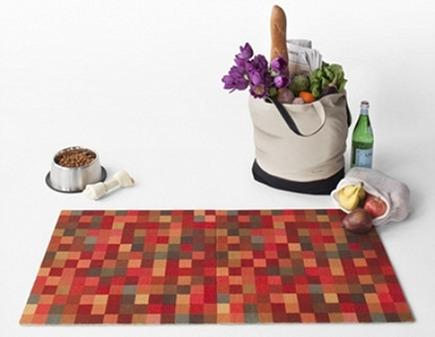 carpet tiles - eco-friendly pattern modular floor tile doormat by Flor via Atticmag