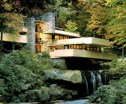 historic homes - Frank Lloyd Wright's Fallingwater - wright-house.com via atticmag