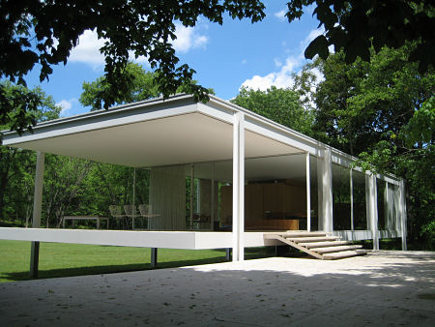 historic homes - Mies van der Rohe's Farnsworth House - via atticmag