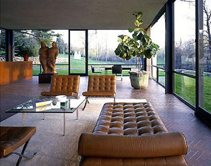 historic homes - Philip Johnson's Glass House - via atticmag