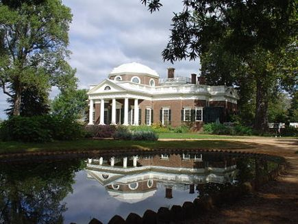historic homes - Thomas Jefferson's Monticello - via atticmag
