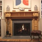 fireplace renovation - installing a salvage Victorian mantel -- Atticmag