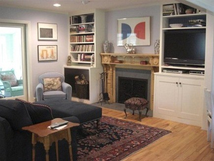fireplace renovation - fireplace and bookcases in our TV room - Atticmag