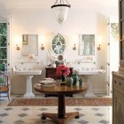 luxurious master baths - his and her master bath by Michael S Smith via Atticmag
