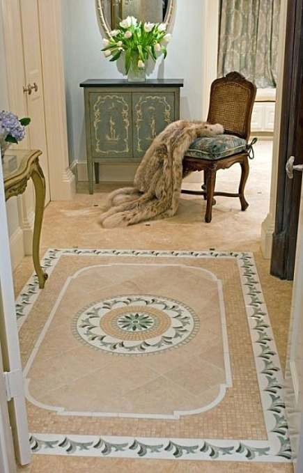 Tile Bathroom Rug