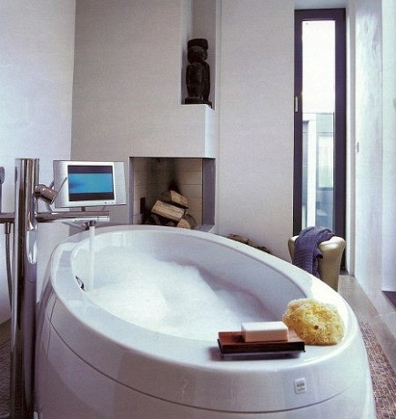 Italian bathtub - ilbagnoalessi one freestanding whirlpool bathtub - Bagno Alessi via Atticmg
