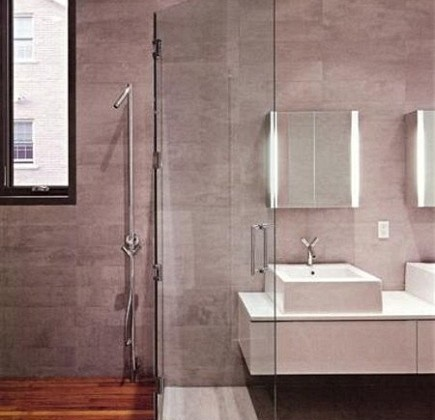 wet rooms - luxury modern master spa with glass enclosed shower - NY Mag via Atticmag