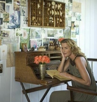 India Hicks - picture wall behind the designers desk - casasugar via Atticmag