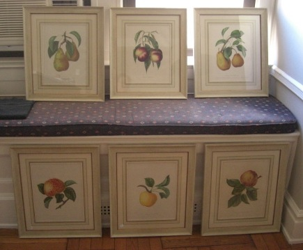 print picture wall - set of six Bivort framed fruit prints - Atticmag