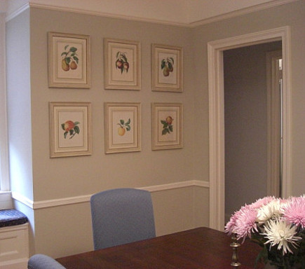 print picture wall - set of six antique fruit prints hung on the finished picture wall - Atticmag
