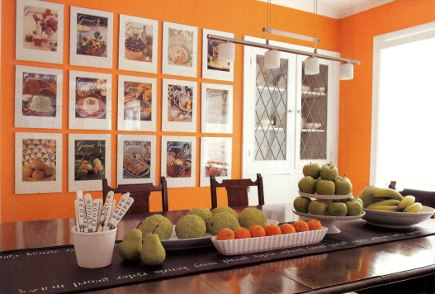 picture walls - odd numbers and rows of framed magazine covers - Home Companion via Atticmag