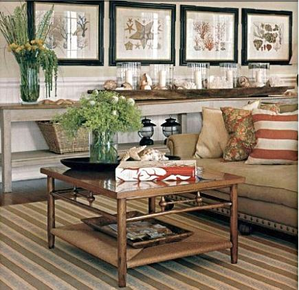 cotton summer rugs - tan striped living room rug from Scott Sanders via Atticmag