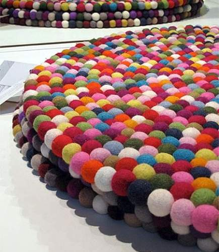 pinocchio felted wool carpet from Hay Design via Atticmag