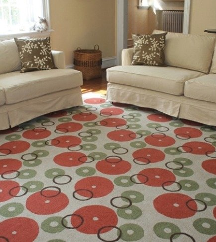 Galbraith and Paul Donuts New Zealand Wool Loop rug via Atticmag