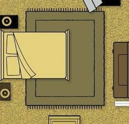 how to choose a bedroom rug computer diagram - atticmag