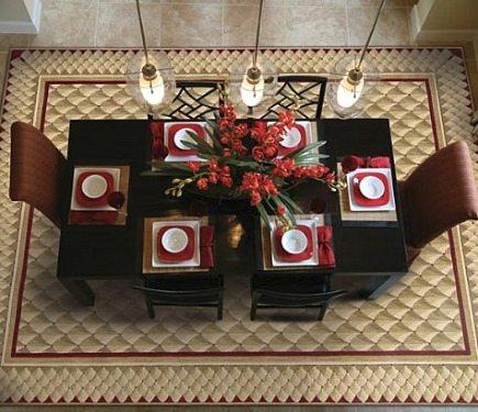 contemporary Vallencierre dining room rug by Nourison via Atticmag