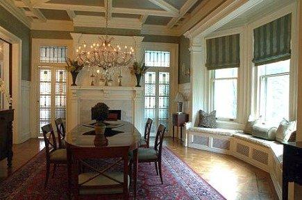 Serouk dining room rug from Bridget Beari Designs via Atticmag