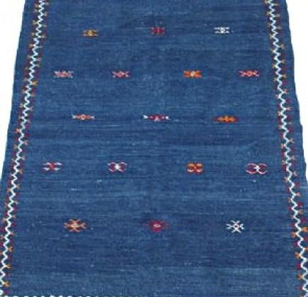 indigo moroccan rugs - indigo blue flat weave rug - via Atticmag