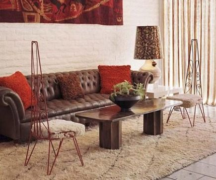 Moroccan rugs - California hotel Parker Palm Springs hotel room designed by Jonathan Adler with Berber rug - via Atticmag