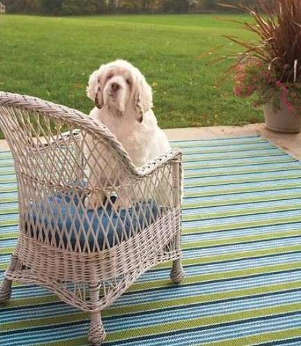 outdoor polypropylene patio rugs from Dash & Albert- via Atticmag