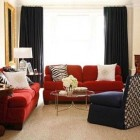 same room different rugs - Living room with custom sized Berber style carpet by designer Amanda Nisbet - via Atticmag