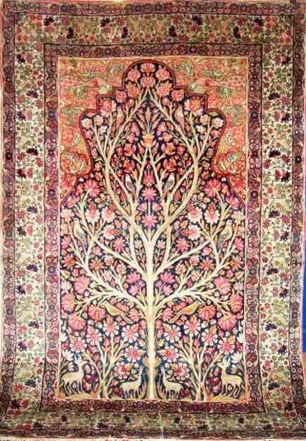 Oriental rug samplers - antique kirman rug with sampler motifs - sepahanrugs.co.uk via Atticmag