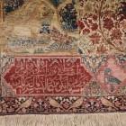 Oriental rug samples - antique lavar kirman rug sampler with floral motifs - groganco via Atticmag