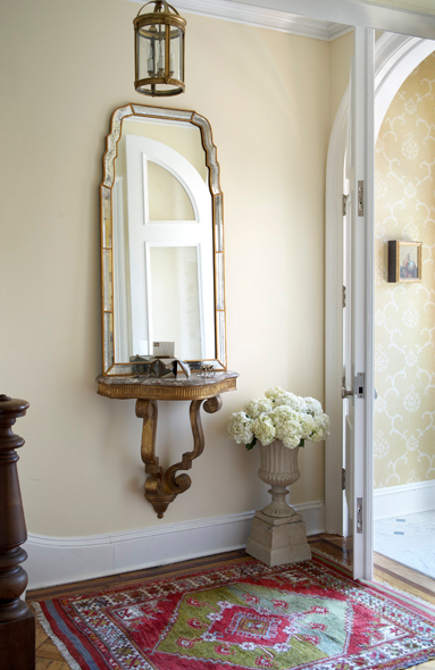 A Small Square Foyer Rug Can Visually Expand Floor E In An Entry Way