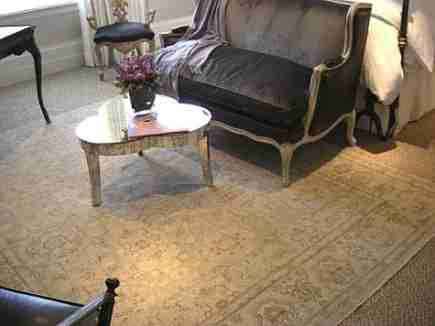 sisal - Oriental rug over sisal in 2009 San Francisco Decorator Showcase Cecilie Starin Design via Atticmag