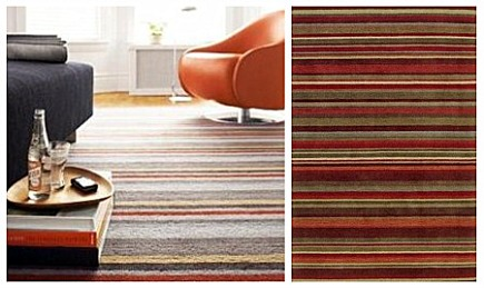 area rug - colorful striped Library area rug from Room and Board via Atticmag
