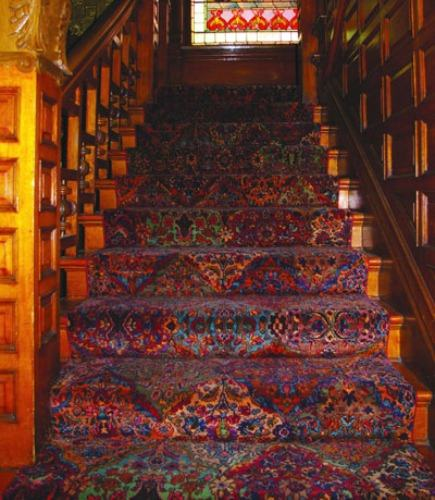 Merveilleux The Molly Brown House Museum Stairway With Karastan Multicolor Panel Kirman  Rug   Home Textiles Today