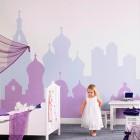 children's wallpaper - bohemian digital wall art covering by nono via Atticmag