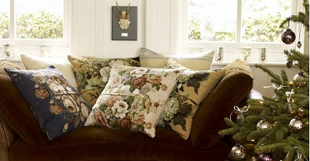 holiday gift ideas - throw pillow cushion covers made from vintage fabric from Pale and Interesting - via Atticmag