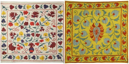 suzani handmade embroidered suzani pillow cover patterns - Yurdan via Atticmag