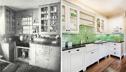 kitchens 1920 2010 1920s kitchen and and current kitchen style via atticmag - 1920s Kitchen
