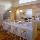 modern neutral kitchens - cream and white kitchen -Hutker Architects via Atticmag