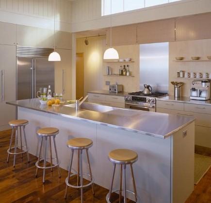 modern neutral kitchens - cream and white kitchen -Hutker Architects via Atticmag