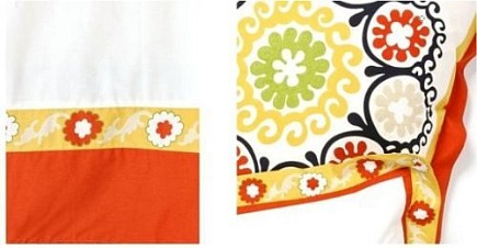 kid's rooms - details of suzani inspired colorful Kapali duvet bedding - Anthropologie via Atticmag