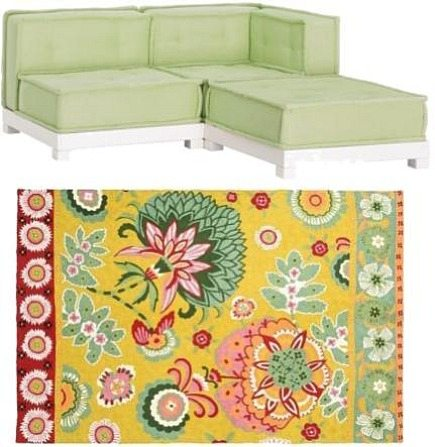 kid's rooms - green Cushy Lounge sectional sofa - Pottery Barn Teen via Atticmag