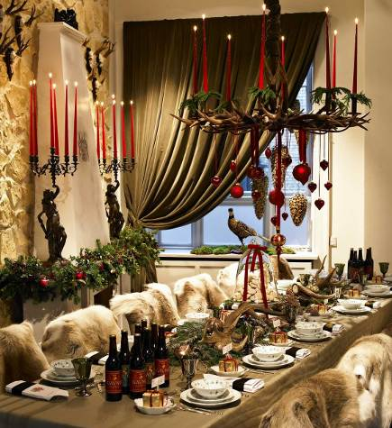 Royal Copenhagen Christmas Table from Gavno Castle, 2008